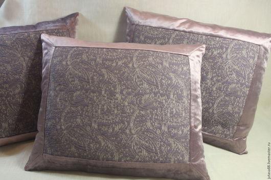 Текстиль, ковры ручной работы. Ярмарка Мастеров - ручная работа. Купить Чехлы для интерьерных подушек. Handmade. Бледно-сиреневый, жаккард