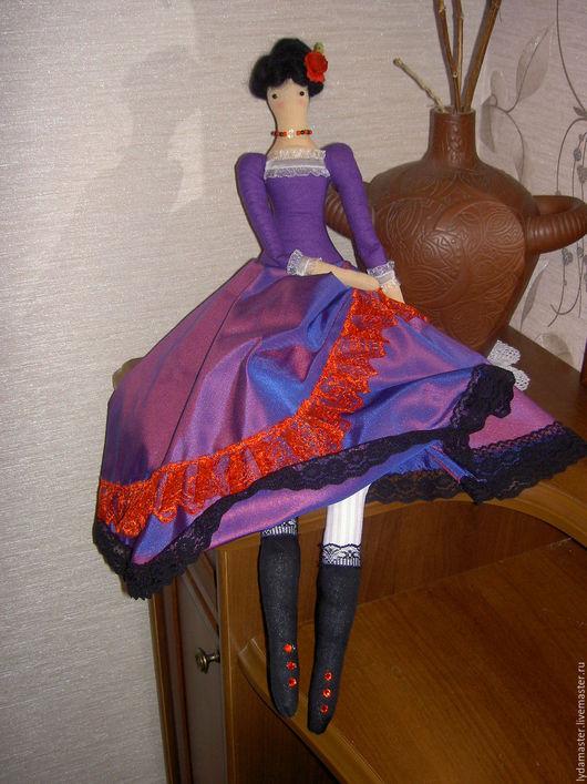 Куклы Тильды ручной работы. Ярмарка Мастеров - ручная работа. Купить Тильда в испанском стиле. Handmade. Тёмно-фиолетовый, кукла