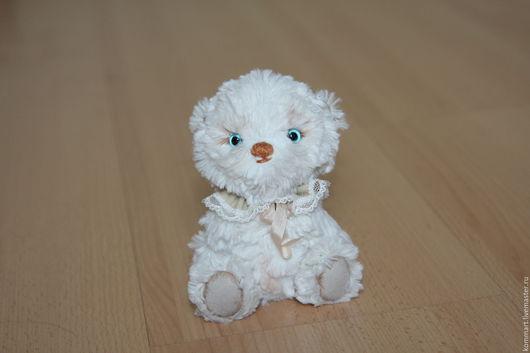 Мишки Тедди ручной работы. Ярмарка Мастеров - ручная работа. Купить Мини мишка тедди Теодор. Handmade. Белый