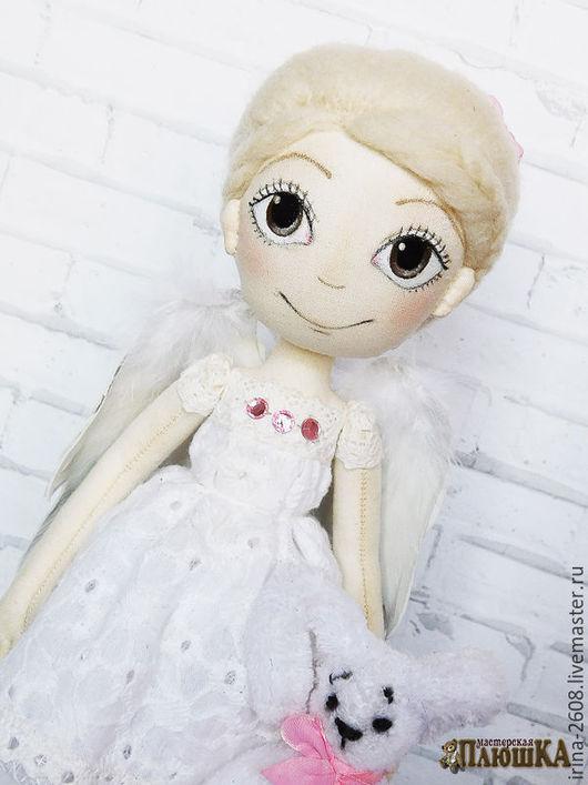 """Коллекционные куклы ручной работы. Ярмарка Мастеров - ручная работа. Купить """"Ангел рядом"""". Интерьерная кукла. Текстильная кукла. Авторская кукла. Handmade."""