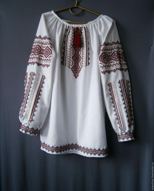 Блузки ручной работы. Ярмарка Мастеров - ручная работа. Купить Блуза-вышиванка из домотканого полотна ручная работа Карпатская. Handmade.