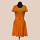 Платья ручной работы. Ярмарка Мастеров - ручная работа. Купить Платье оранжевое хлопковое. Handmade. Однотонный, апельсиновый цвет