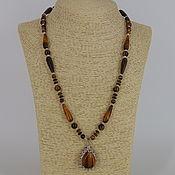 Украшения handmade. Livemaster - original item Necklace with pendant made of natural stones tiger`s eye