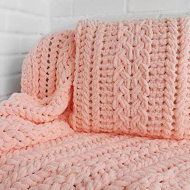 Текстиль ручной работы. Ярмарка Мастеров - ручная работа Розовый плюшевый комплект для девочки из Ализе Пуффи. Handmade.
