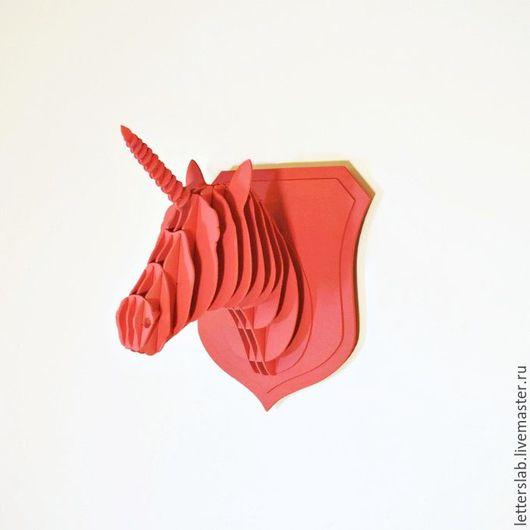 Интерьерные  маски ручной работы. Ярмарка Мастеров - ручная работа. Купить Единорог из фанеры Любое цветовое исполнени. Handmade.