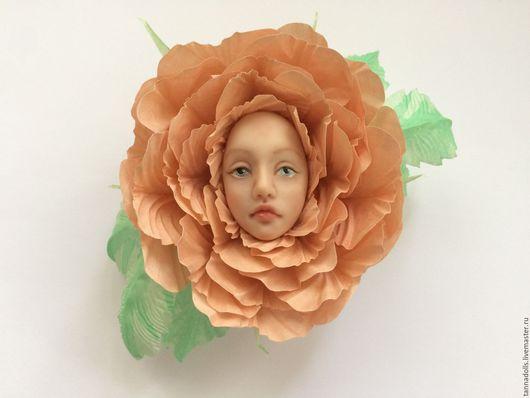 Коллекционные куклы ручной работы. Ярмарка Мастеров - ручная работа. Купить Брошь Роза. Handmade. Авторская ручная работа, брошь