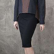 Одежда ручной работы. Ярмарка Мастеров - ручная работа Черная юбка-карандаш из джерси. Handmade.