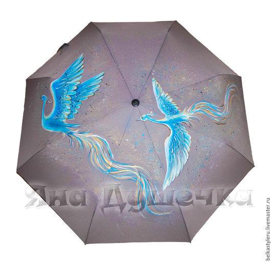 """Зонты ручной работы. Ярмарка Мастеров - ручная работа. Купить Зонт с ручной росписью """"2 жар-птицы"""". Handmade."""
