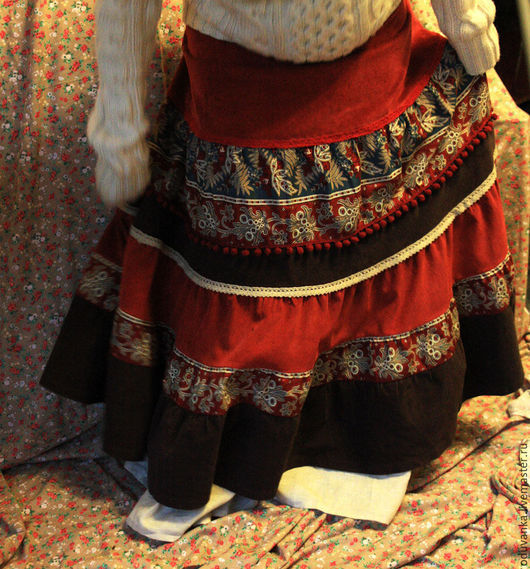 """Юбки ручной работы. Ярмарка Мастеров - ручная работа. Купить Бохо-юбка """"Купеческая"""". Handmade. Юбка, теплая юбка, твид"""