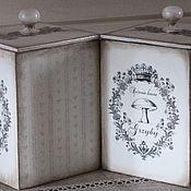 Для дома и интерьера ручной работы. Ярмарка Мастеров - ручная работа Коробочки для кухни,короб для специй. Handmade.
