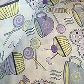 Материалы для творчества ручной работы. Ярмарка Мастеров - ручная работа 100% хлопок, Польша 2, кулинария сиреневая. Handmade.