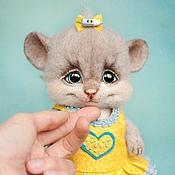 Куклы и игрушки ручной работы. Ярмарка Мастеров - ручная работа Валяная мышка Люси. Handmade.