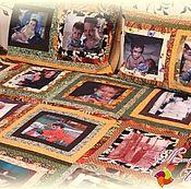 Подарки к праздникам ручной работы. Ярмарка Мастеров - ручная работа Покрывало с фотографиями  «Генеральское» № 387. Handmade.