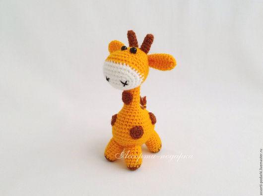 Игрушки животные, ручной работы. Ярмарка Мастеров - ручная работа. Купить Жираф игрушка вязаная крючком. Handmade. Амигуруми, для гостей