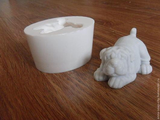 """Другие виды рукоделия ручной работы. Ярмарка Мастеров - ручная работа. Купить Силиконовая форма для мыла """"Шарпей"""". Handmade."""