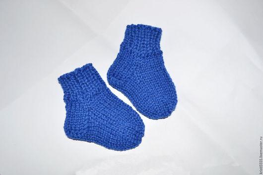 Носки, Чулки ручной работы. Ярмарка Мастеров - ручная работа. Купить Носочки вязаные для новорожденного. Handmade. Ярко-красный