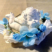 Цветы и флористика ручной работы. Ярмарка Мастеров - ручная работа Ободок из цветов. Handmade.