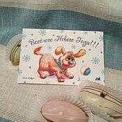 Открытки handmade. Livemaster - original item Greeting card with dog