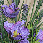 Цветы и флористика handmade. Livemaster - original item Poppies lilac dew. Handmade.