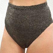 Одежда handmade. Livemaster - original item Panties 3XL - warm knitted woolen gray taupe unisex, warm underwear. Handmade.