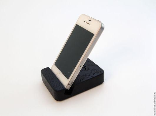 Для телефонов ручной работы. Ярмарка Мастеров - ручная работа. Купить Подставка для телефона.. Handmade. Черный, смартфон, ручная работа
