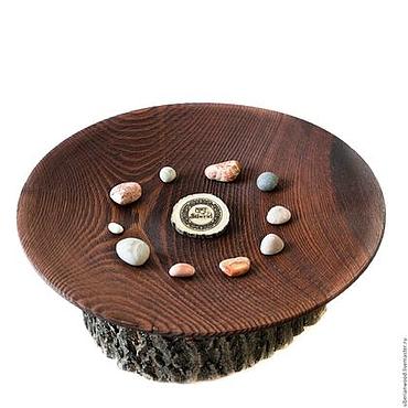 Посуда ручной работы. Ярмарка Мастеров - ручная работа Блюдо текстурированное 39 см из Сибирской сосны - Деревянное #T22. Handmade.