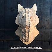 Скульптуры ручной работы. Ярмарка Мастеров - ручная работа Голова животного из фанеры (Волк). Handmade.
