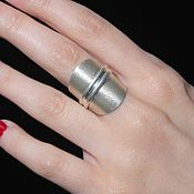 Украшения handmade. Livemaster - original item Minima series ring made of combined 925 sterling silver ASH0035. Handmade.