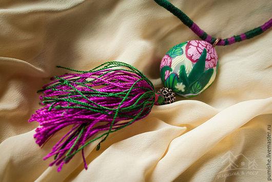 Кулоны, подвески ручной работы. Ярмарка Мастеров - ручная работа. Купить Кулон из полимерной глины Секретный сад. Handmade. Комбинированный