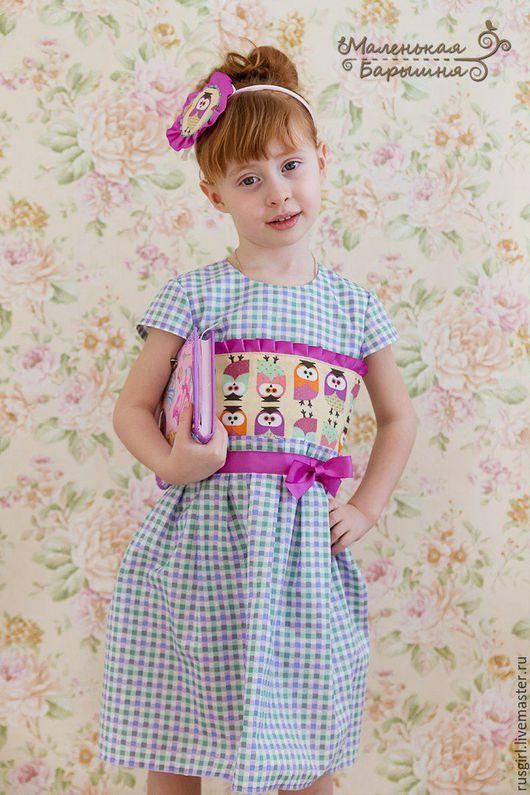 """Одежда для девочек, ручной работы. Ярмарка Мастеров - ручная работа. Купить Платье для девочки """"Сонечка""""+ украшение. Handmade. Фиолетовый"""