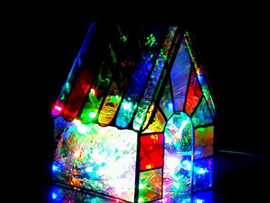 """Освещение ручной работы. Ярмарка Мастеров - ручная работа. Купить Витражный светильник""""Дом для феи"""". Handmade. Витраж, светильник, ночник в детскую"""