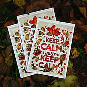 """Открытки ручной работы. Ярмарка Мастеров - ручная работа Открытка """"Just keep calm"""". Handmade."""