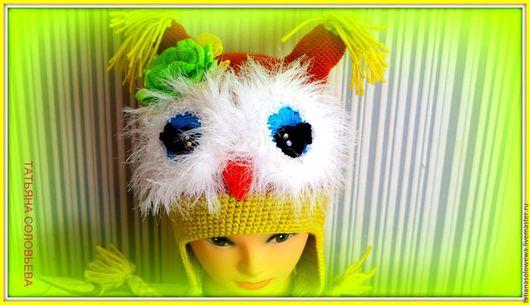 Одежда для девочек, ручной работы. Ярмарка Мастеров - ручная работа. Купить Шапочка Совунья.. Handmade. Комбинированный, шапка детская вязаная