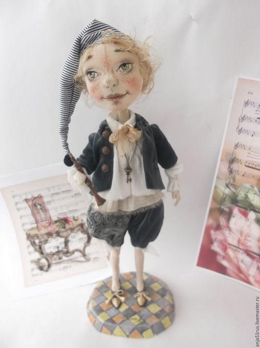 Коллекционные куклы ручной работы. Ярмарка Мастеров - ручная работа. Купить Буратино продано. Handmade. Серый, золотой ключик