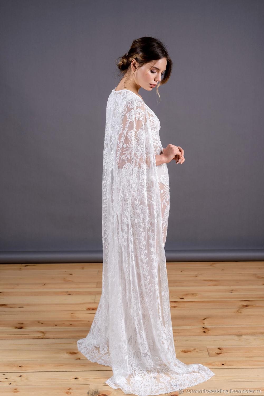 Будуарное платье с кейпом, Платья, Москва,  Фото №1