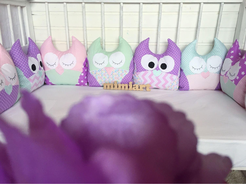 Подушки совы в кроватку своими руками