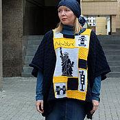 Одежда handmade. Livemaster - original item poncho new york knit copyright. Handmade.