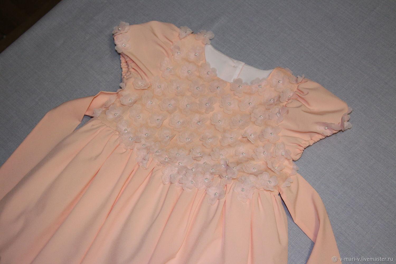 Платье детское нарядное Персиковое чудо
