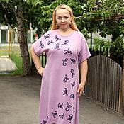 """Одежда ручной работы. Ярмарка Мастеров - ручная работа Летнее нарядное платье """"Цветы и листья-2"""" розовый. Handmade."""