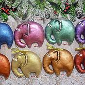 Куклы и игрушки ручной работы. Ярмарка Мастеров - ручная работа Слоники и тигры.Кофейные игрушки. Handmade.