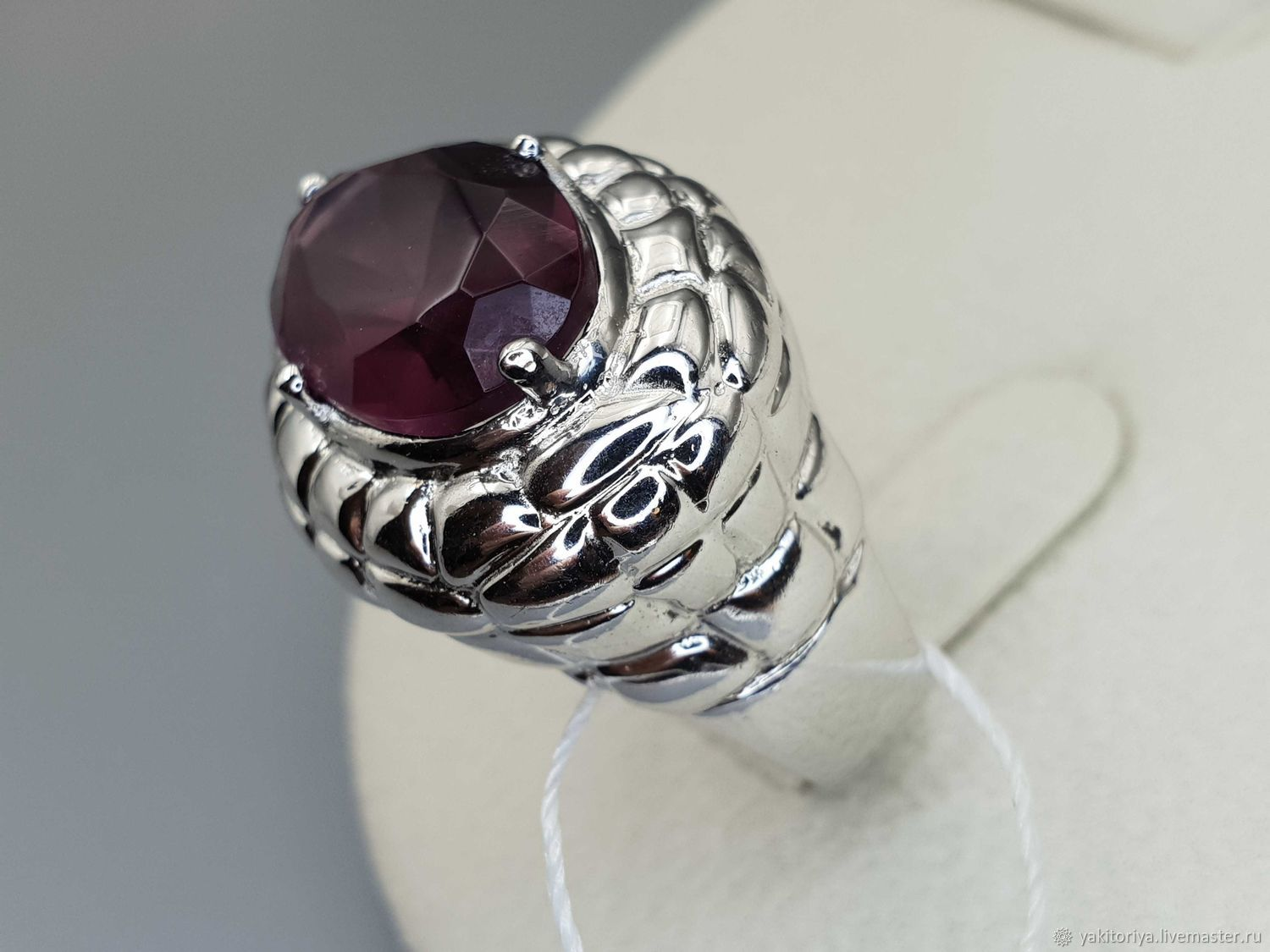 Silver ring with fluorite 16h10 mm, Rings, Moscow,  Фото №1