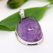 Pendants handmade. Livemaster - original item Pendant with natural amethyst Lavender, silver. Handmade.