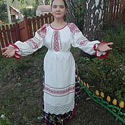 Одежда handmade. Livemaster - original item Traditional shirt with embroidery. Handmade.