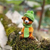 Куклы и игрушки handmade. Livemaster - original item Teddy Animals: Knitted Teddy-Fox Rudik. Handmade.