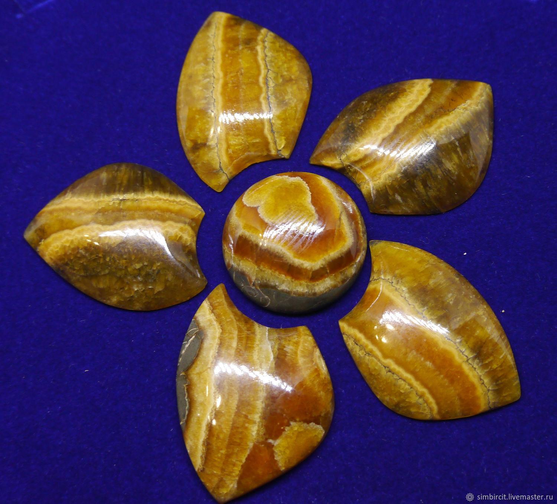 Set of five-Leaf simbircite, Cabochons, Ulyanovsk,  Фото №1