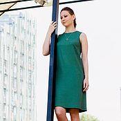 Одежда ручной работы. Ярмарка Мастеров - ручная работа Платье прямое из креповой итальянской вискозы. Handmade.