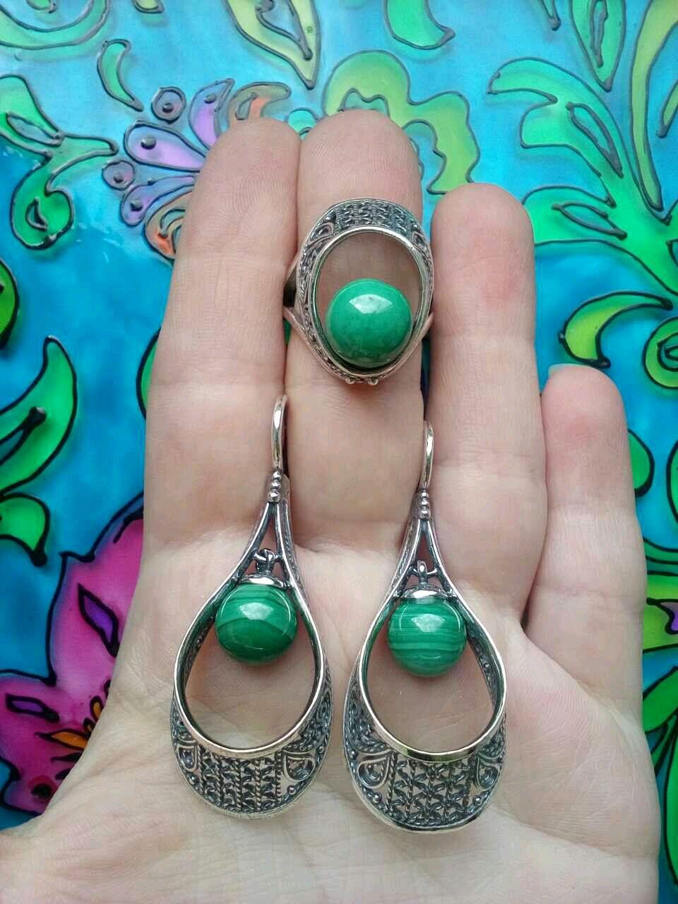 304 Set silver with stones, Jewelry Sets, Ivanovo,  Фото №1