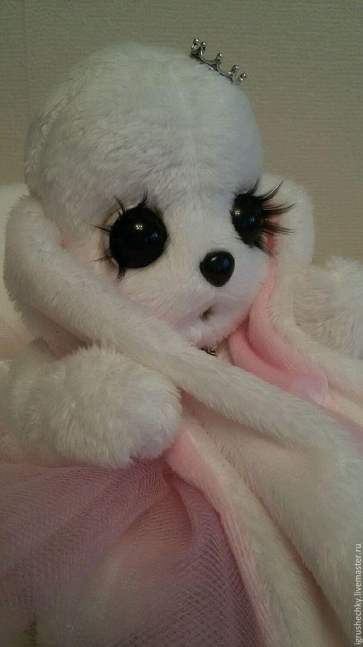 Мишки Тедди ручной работы. Ярмарка Мастеров - ручная работа. Купить Зайка Тедди.  Интерьерная игрушка.  Зайка с большими глазами. Handmade.