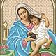 Вышивка ручной работы. Мадонна с младенцем.Набор для вышивки бисером.. Вышивка бисером. (zolotayakorona). Интернет-магазин Ярмарка Мастеров.