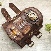 Аксессуары ручной работы. Ярмарка Мастеров - ручная работа Большой стимпанк-браслет с компасом. Handmade.